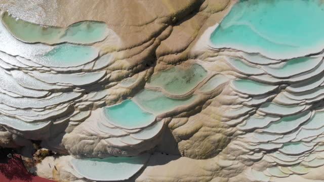 vídeos y material grabado en eventos de stock de 4k aérea ve el bloqueo; resumen patrón natural de la terraza de agua cascada blanco en china. - diseño natural