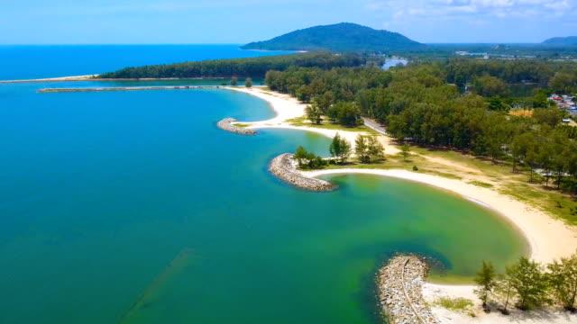4k. 泰國陶公省美麗海灘鳥瞰圖 - 東南 個影片檔及 b 捲影像