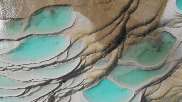vídeos y material grabado en eventos de stock de zoom de vista aérea de 4 k resumen patrón natural de la terraza de agua cascada blanco en china. - diseño natural
