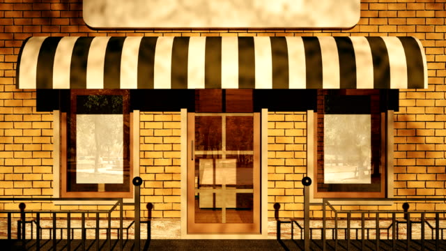 vídeos de stock e filmes b-roll de 4k. an empty storefront. - bar local de entretenimento