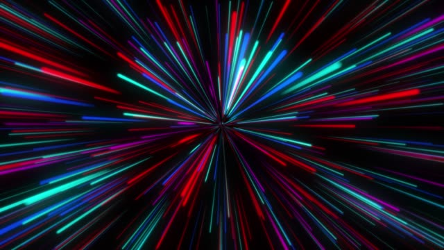 stockvideo's en b-roll-footage met 4k geanimeerde abstracte kleurenachtergrond van gekleurde lijnen - foreground background perspective graphic