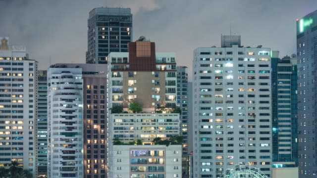 4k Apartment building at night video