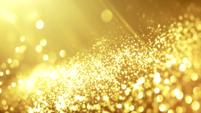 4k Beautiful Bokeh and Light Beams (Bright Gold) - Loop video