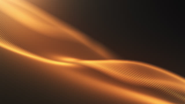 4k Beautiful Waving Lines Background (Gold) - Loopable