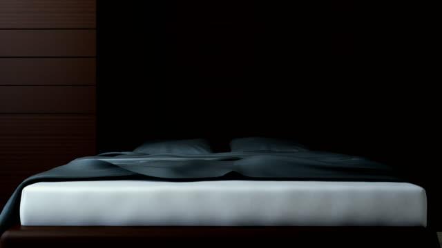 4k. Bedroom interior. video
