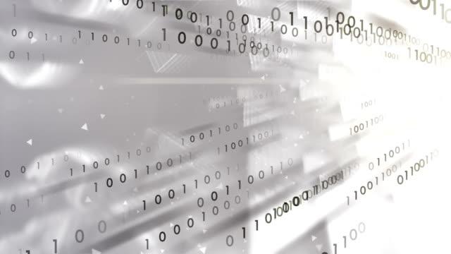 4 k 二進位代碼轉讓 (白色)-迴圈 - 二進制碼 個影片檔及 b 捲影像