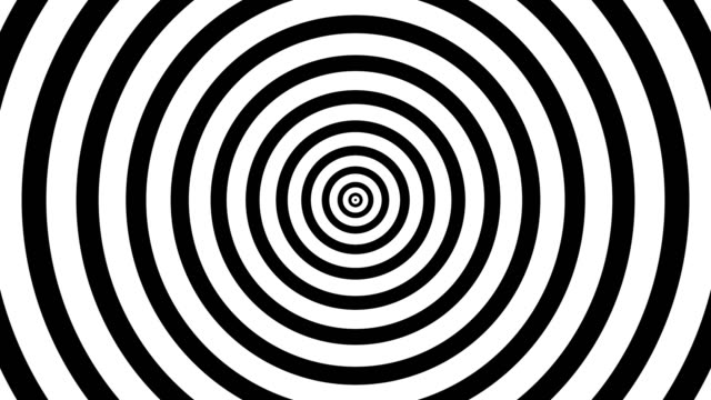 00:00 | 00:00 1×  4k Black and White Seamless Looping hypnosis spiral Background.