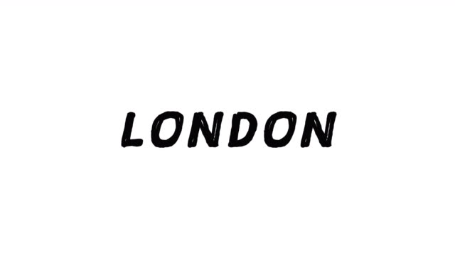 4k Black word London with white background