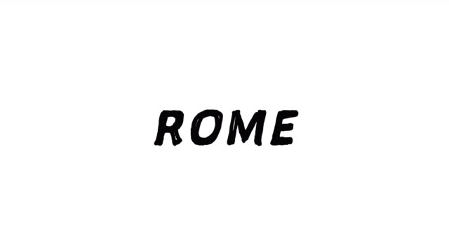 4k Black word Rome with white background