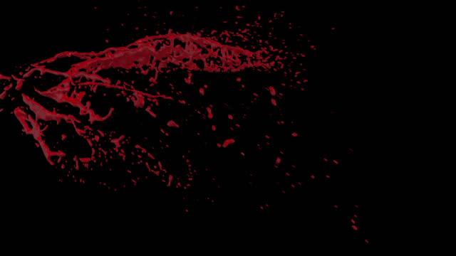 stockvideo's en b-roll-footage met 4 k bloed barsten motion blur (met alpha) 49 - bloed
