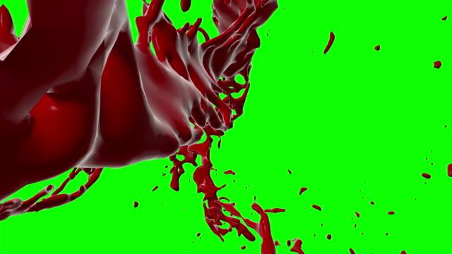 4k Blood Burst Slow Motion (Green Screen) 148 video