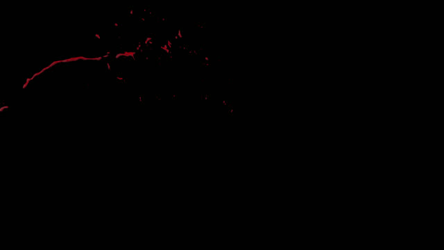 4k Blood Burst Slow Motion (With Alpha) video