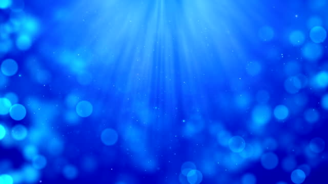 4k Blue abstract bokeh particle background with shine from up. 30 seconds seamless loop. have another color. check my page video