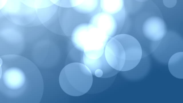 4k Blue Bokeh Animation Background Seamless Loop video