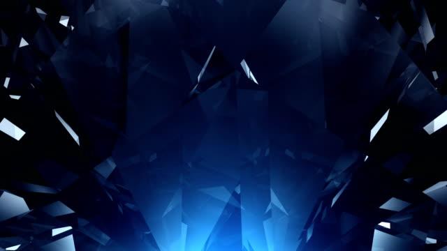 4k blue diamond background loop - кристалл стоковые видео и кадры b-roll