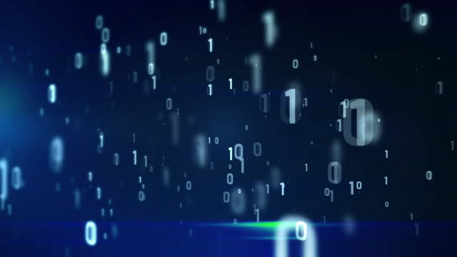 4k blue digital coding animation seamless loop. video
