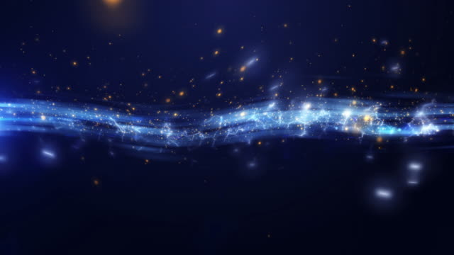 4k Blue Energy Stream Abstract Animation Background Seamless Loop. video