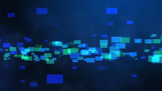 4k blue green abstract tech background - klocek filmów i materiałów b-roll