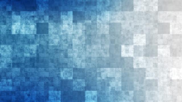 vídeos de stock e filmes b-roll de 4k blue grid mosaic background - bloco