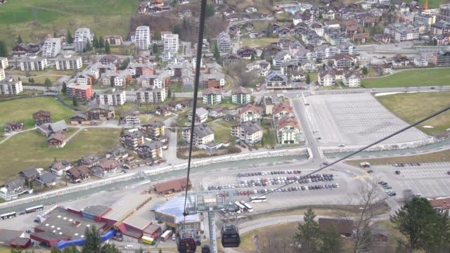 4k cable car in Engelberg, Switzerland