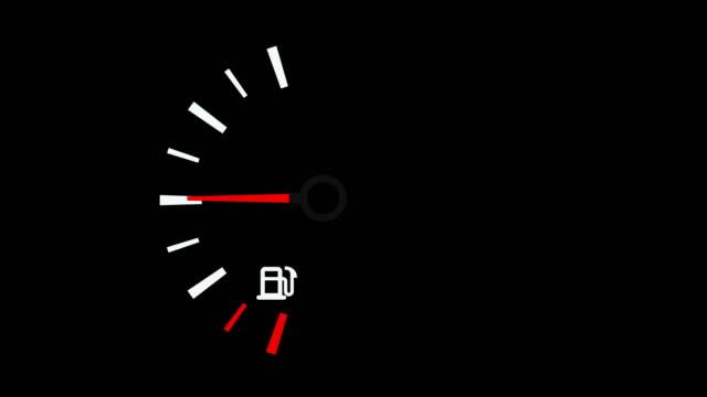 vídeos de stock e filmes b-roll de 4k car dashboard animation - combustível fóssil