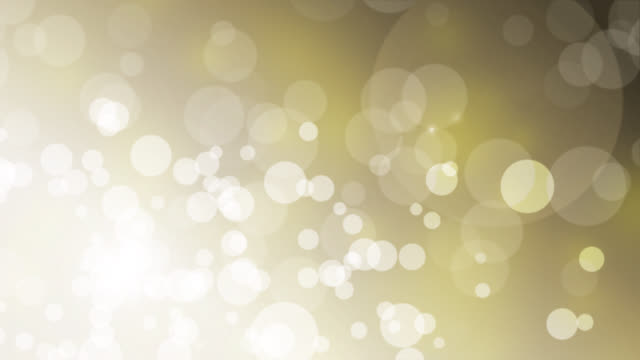 4k Christmas gold background with snow and bokeh lights