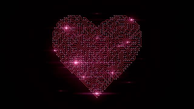 4k platine herz (rot) - loop - online dating stock-videos und b-roll-filmmaterial