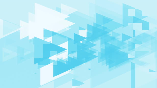 4k Clean Blue Triangles Abstract Background Animation Seamless Loop. video