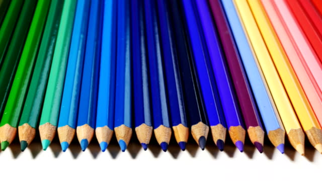 4k Colored Pencils video