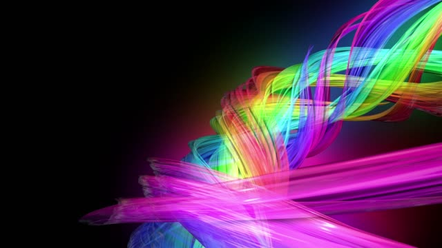 4k Colorful Looped Animation Of A Rainbow Colors Tape With