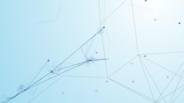 connessioni complesse 4k emergenti e formando una rete (bianca) - loopable - intelligenza artificiale, blockchain, big data, sicurezza della rete - big data video stock e b–roll