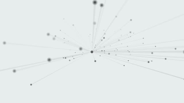 4k Connection. Abstract simple motion graphic with dots and lines.