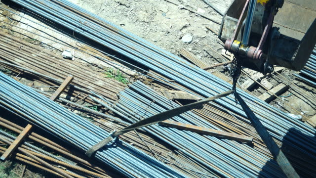 4k: construction site - spranga video stock e b–roll