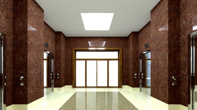 4k. corner office without people. chromakey. - hotel reception filmów i materiałów b-roll