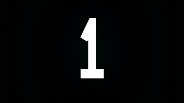 4k countdown  1-2-3 - due oggetti video stock e b–roll