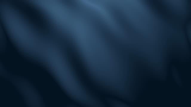 4k Dark Blue Fabric Wave Animation Background Seamless Loop. video