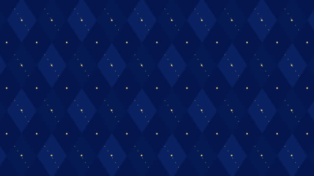 4k Dark navy blue checkered animation with golden dash line. Trendy color birth party backdrop. Scottish wedding argyle ornament. Dad, father, men banner. Royal invite card for king, little prince plaid stock videos & royalty-free footage