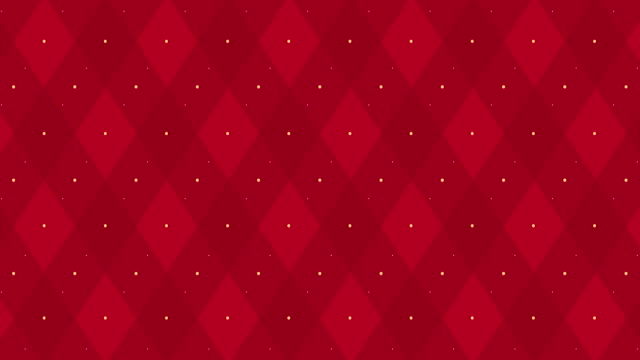 4k Dark red checkered animation with golden dash line. Xmas trendy color party backdrop .