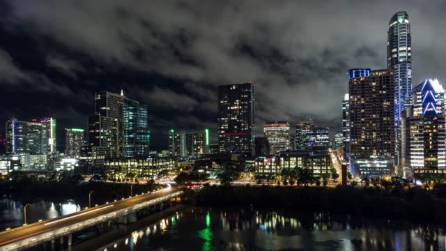 UHD 4k Day to Night Time Lapse Austin, Texas USA video
