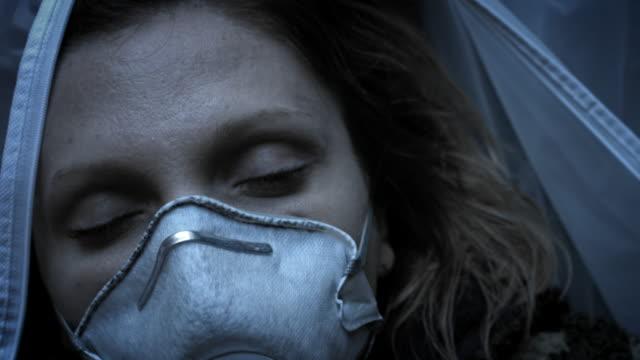 4k dead human body cadaver laying killed - cadavere video stock e b–roll