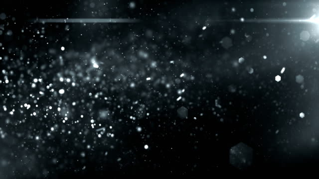 4k defocused particles background (black / dark silver) - loop - argentato video stock e b–roll