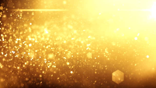 4k Defocused Particles Background (Gold) - Loop video