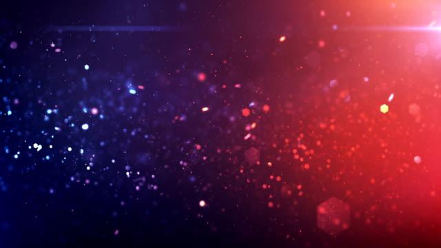 4k Defocused Particles Background (Red, Blue) - Loop