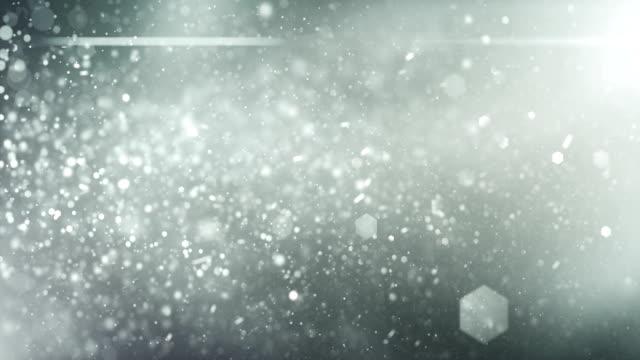 4k Defocused Particles Background (Silver) - Loop video