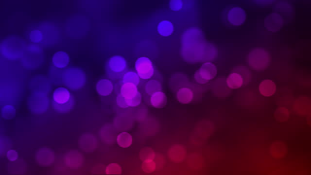 4k Defocused Particles Background - Red and Blue in colour video