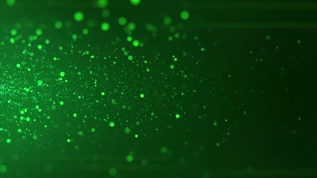 vídeos de stock, filmes e b-roll de fundo de partículas defocused 4k (loopable) - fundo verde