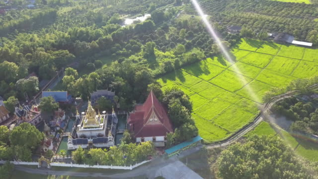 4k drone aerial temple Chiang Mai Thailand video
