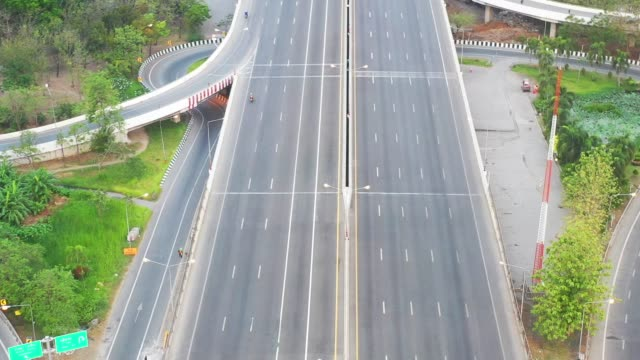 4k footage of empty highway or interstate road during day time.Transportation and logistic concept