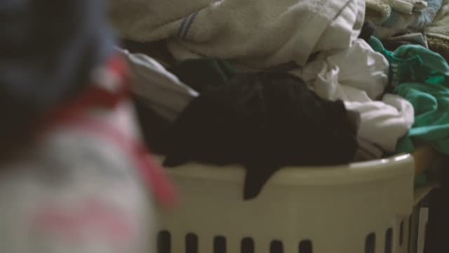 4k footage of messy clothes