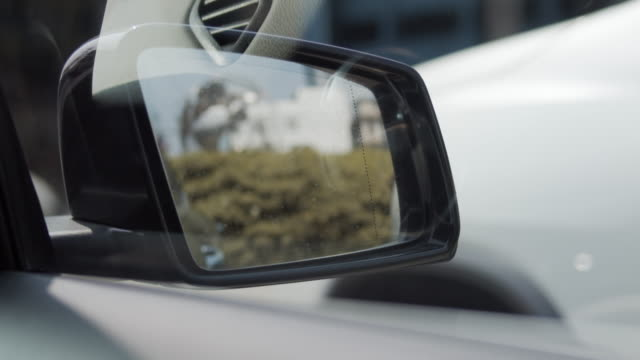 4k footage of side windows of sport car